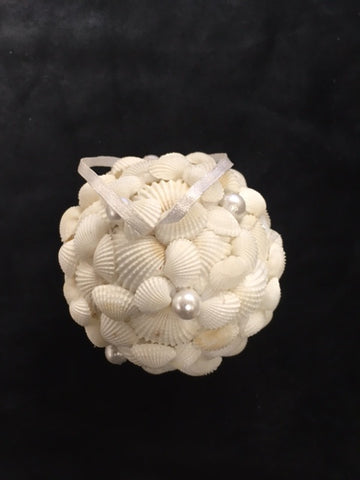 seashells christmas ball ornament