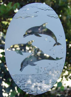 Vinyl Window Cling- Jumping Dolphin