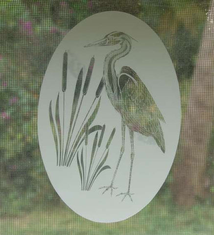 Vinyl window cling etching