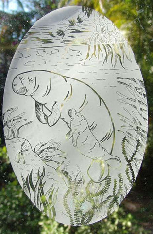 Manatee Window Cling