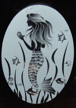 Mermaid Window etching