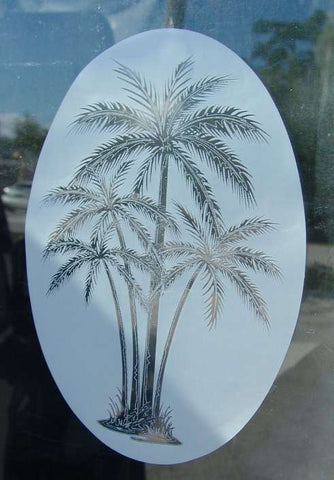 Palm tree window cling
