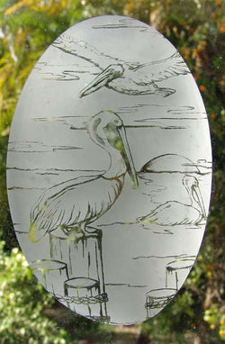 Pelican vinyl window cling decor