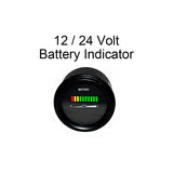 "12V 12 Volt Marine Trolling Motor Battery Indicator Power Meter-  2"" Round - Automotive Authority"
