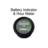 "12v 24v 36v Marine Engine Hour Meter w/ Battery Indicator Charge Meter 2"" - Automotive Authority"