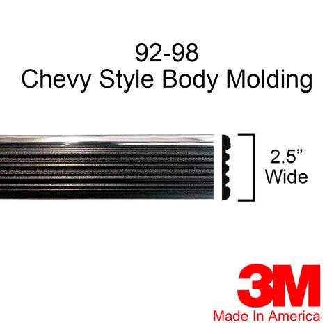 1992-1998 Chevy Suburban Chrome/Black Side Body Trim Molding - Automotive Authority
