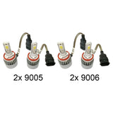 1995-2006 Chevy Tahoe 72W 7600LM LED Headlight Conversion Kit Bulb Beam - Automotive Authority