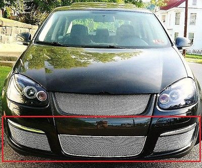 2005-2010 Volkswagen Jetta Chrome Mesh Grille Insert Kit - Automotive Authority