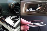 SILVER MICRO TRIM DASH GAUGES STEREO SPEAKERS CONSOLE DIY CHROME TRIM 4mm - Automotive Authority