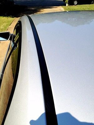 2013-2015 Lincoln MKZ Black Roof Top Trim Molding Kit - Automotive Authority