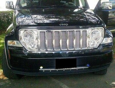 2008 2009 2010 2011 2012 2013 Jeep Liberty Chrome Mesh Grille Insert Kit - Automotive Authority