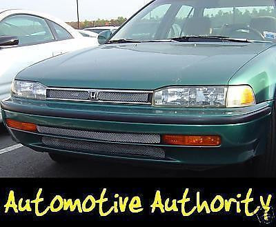Chrome Mesh Grille Insert Kit For Honda Accord 1992-1993 - Automotive Authority