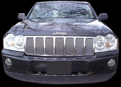 2005-2007 Jeep Grand Cherokee Chrome Mesh Grille Insert Kit - Automotive Authority