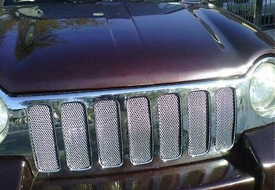 2002-2004 Jeep Liberty Chrome Mesh Grille Insert Kit - Automotive Authority