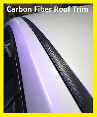 2005-2010 Dodge Charger Black Carbon Fiber Roof Top Trim Molding Kit - Automotive Authority