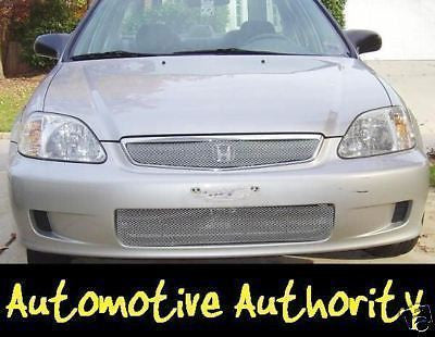 1999-2000 Honda Civic Chrome Mesh Grille Insert Kit - Automotive Authority