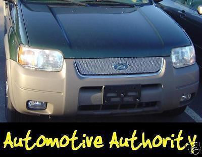 2001-2004 Ford Escape Chrome Mesh Grille Insert Kit - Automotive Authority