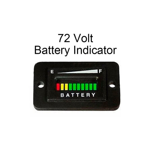 72 Volt / 72V Polaris GEM Electric Vehicle Battery Meter Gauge Charger Indicator - Automotive Authority
