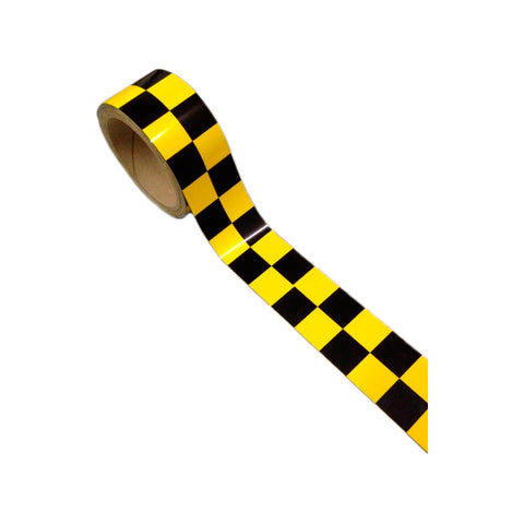 Black/Yellow Checkered Decal Tape - Customize Your Ride - Automotive Authority