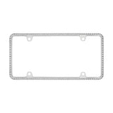 CHROME CRYSTAL LICENSE PLATE FRAME - Automotive Authority