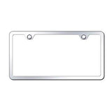 CHROME MIRROR THIN BORDER LICENSE PLATE FRAME - Automotive Authority