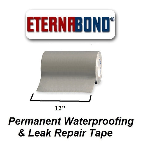 "12"" Gray Eternabond Roof Leak Repair Tape Patch Seal - Automotive Authority"