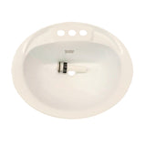 "RV Camper Trailer Oval Bathroom Sink with Drain Stopper Lavatory Sink 20"" x 17"" - White - Automotive Authority"