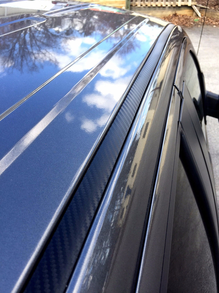 2009 2014 Ford F150 Black Carbon Fiber Roof Top Trim