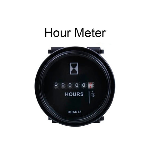 "Universal 2"" Round Hour Meter for Small Engines - Automotive Authority"