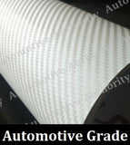 WHITE CARBON FIBER Vinyl Wrap Film - Pro Grade w/ AIR RELEASE - Choose Your Size - Automotive Authority