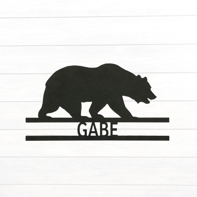 Bear Personalized Name Sign