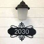 Fancy Fleur de Lis Address Sign