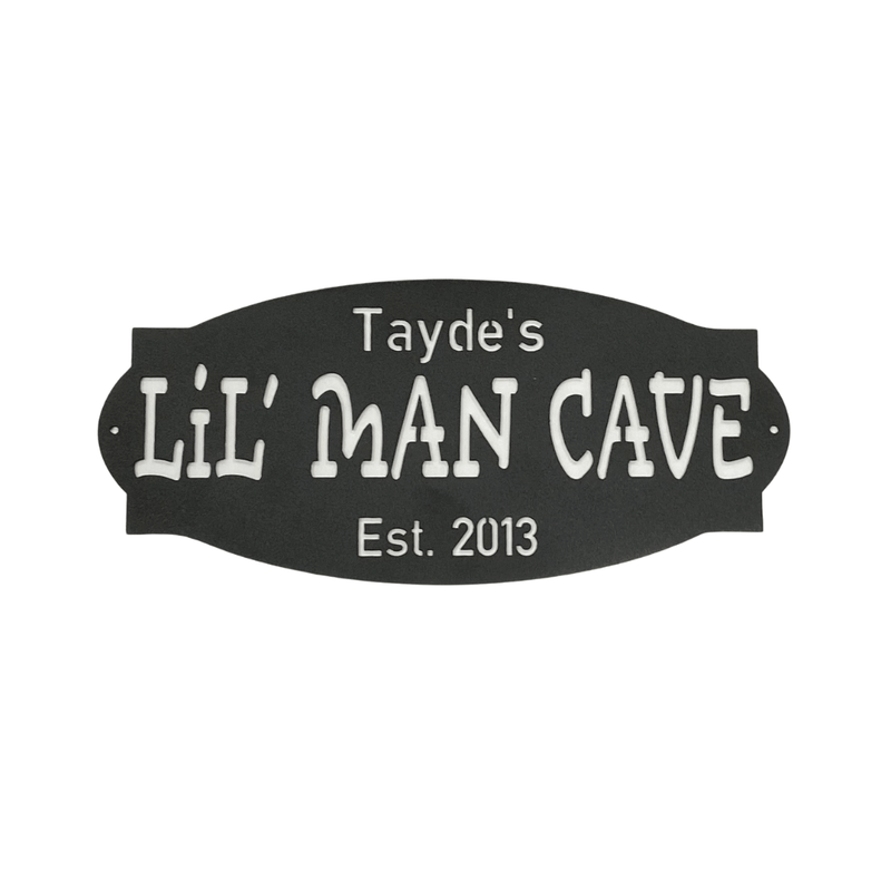 Personalized Lil Man Cave - Metal Unlimited