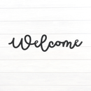Cursive Welcome Sign - Metal Unlimited