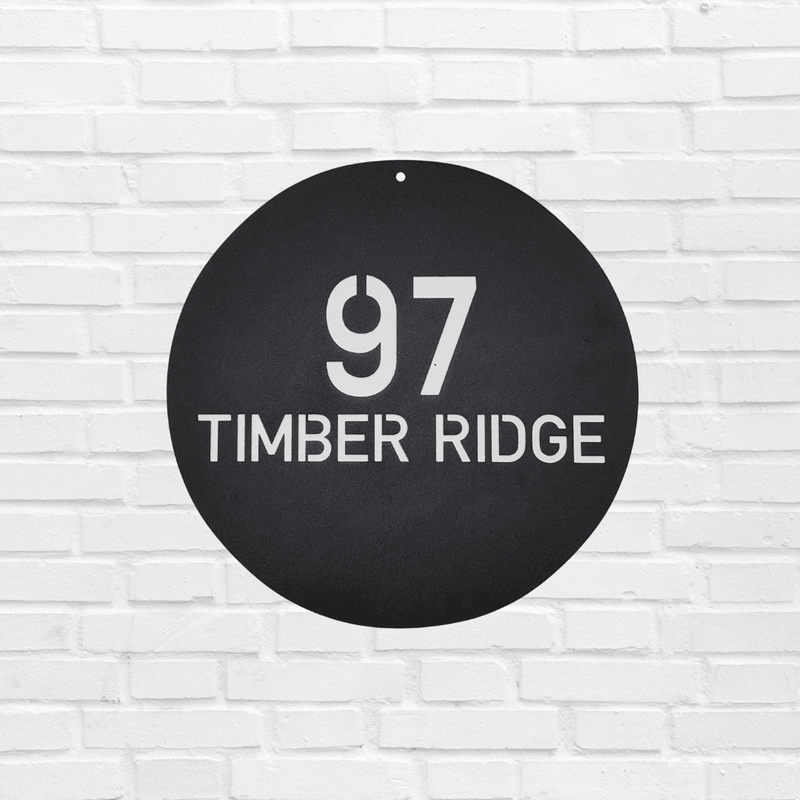 Circle Address Sign