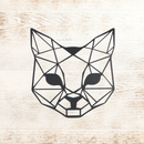 Cat Geometric Sign - Metal Unlimited