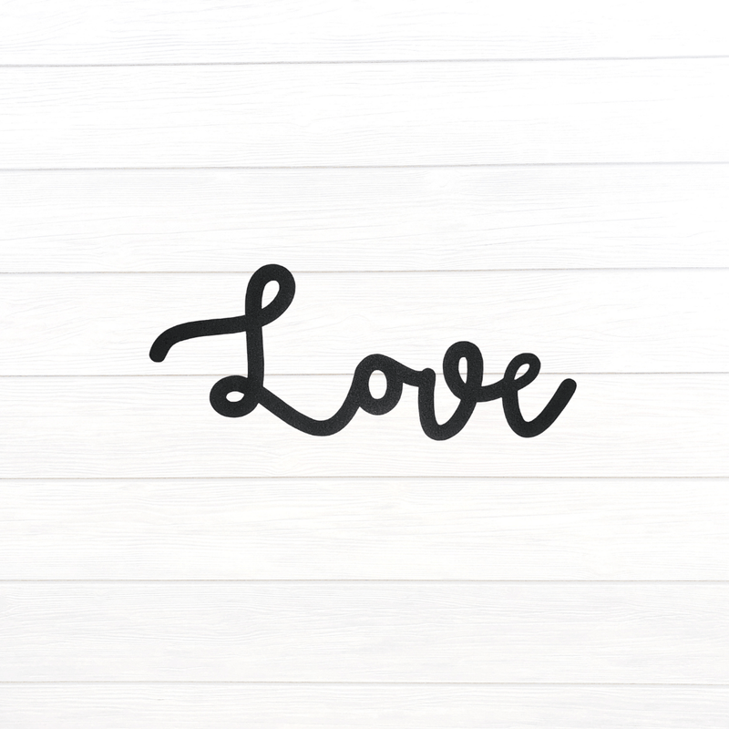 Cursive Love Sign