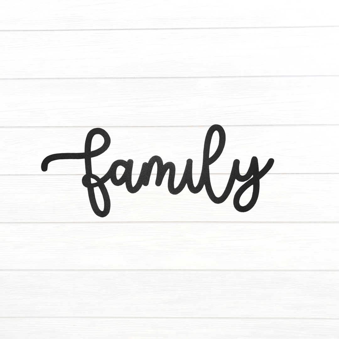 Cursive Family Sign