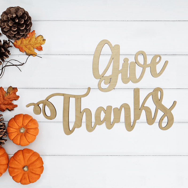 Give Thanks Wooden Wall Art