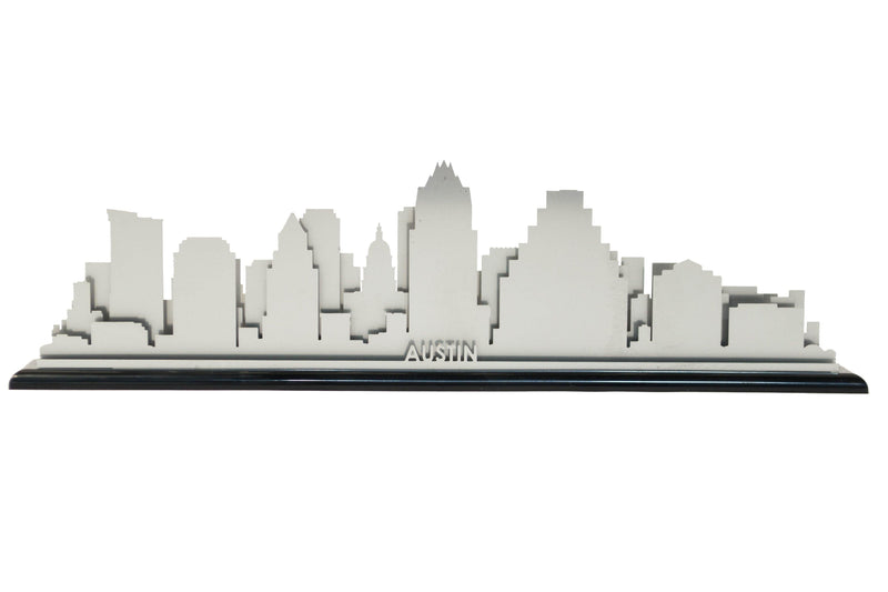 Austin Stainless Steel Skyline - Cool Cut Map Gift
