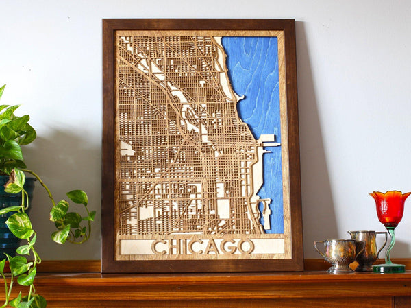 "18""x24"" Chicago 3 Layer Map"