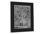 "Columbus - Stainless Steel Map - 11"" x 14"" - Cool Cut Map Gift"