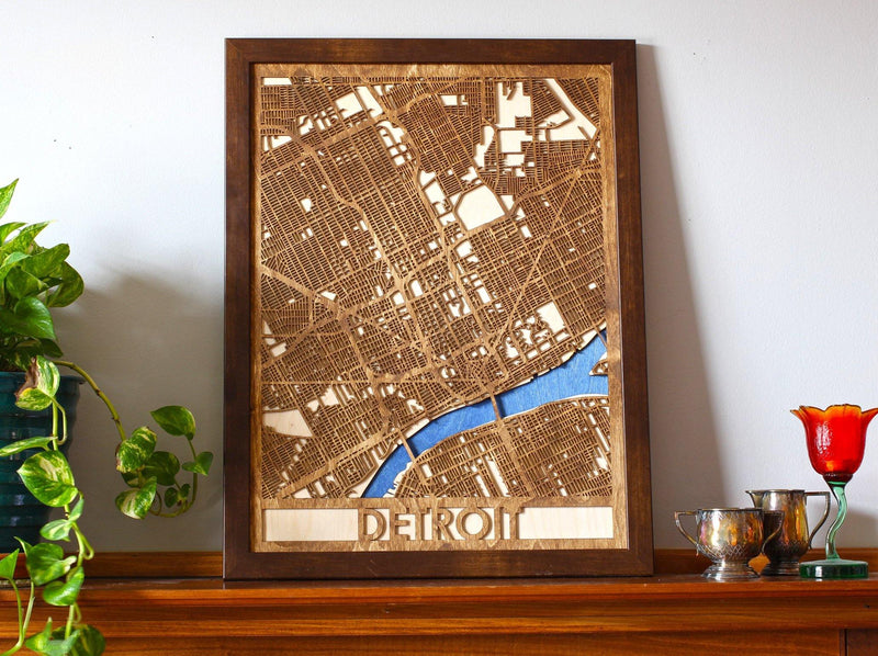 "18""x24"" Detroit 3 Layer Map"