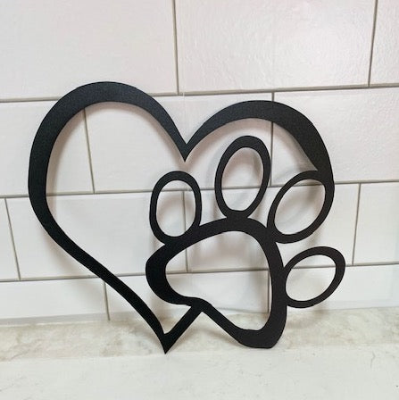 Pet Heart Paw Sign
