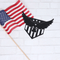 Patriotic Eagle and Stripes Sign