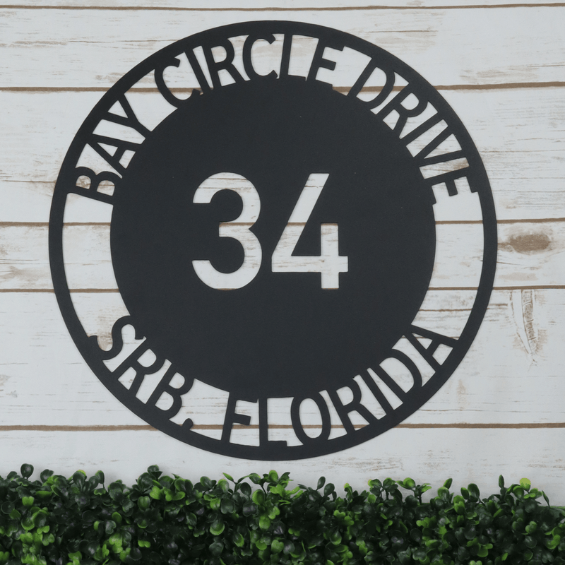 Bold Circle Address Sign