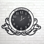 Large Personalized Swirl Clock