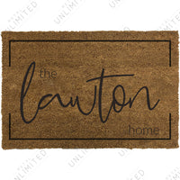 Family Name Bracket Doormat