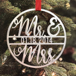 Mr and Mrs Date Christmas Ornament