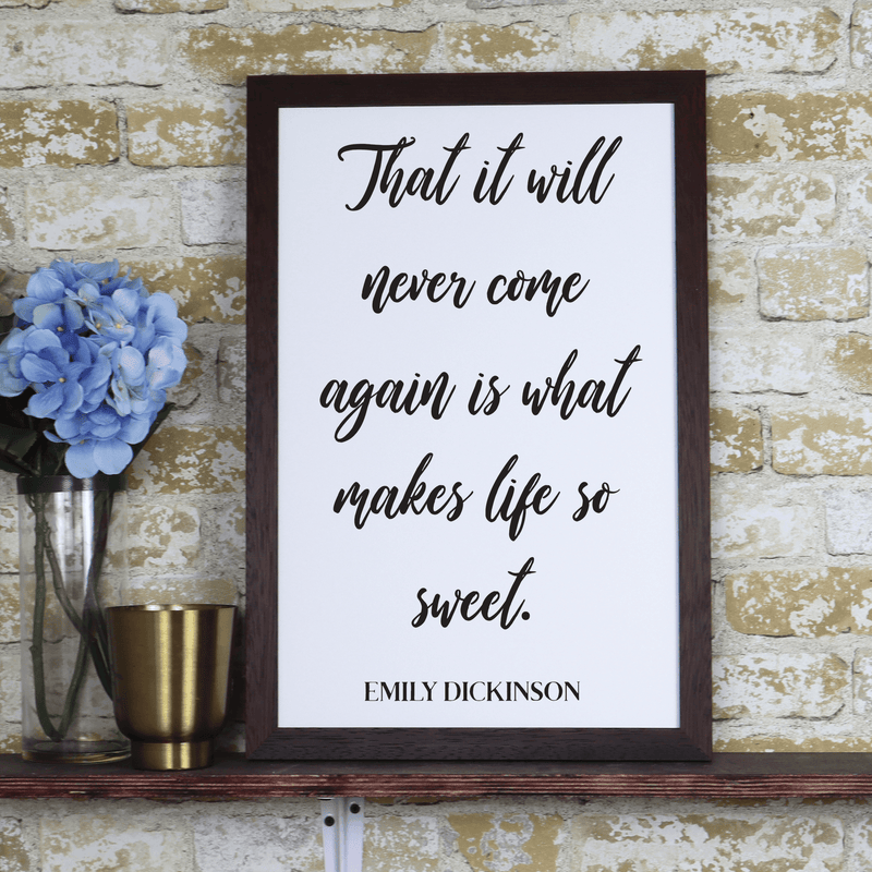 Cursive Quote Farmhouse Print - Metal Unlimited